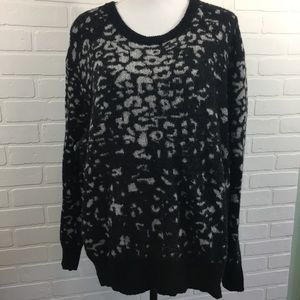 Ava & Viv Animal Print Sweater 3X